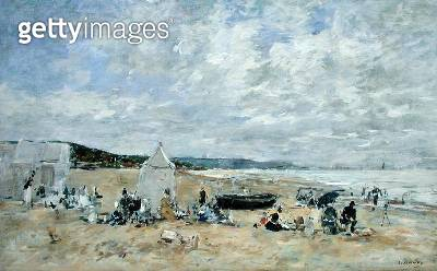 <b>Title</b> : Beach Scene (oil on canvas)<br><b>Medium</b> : oil on canvas<br><b>Location</b> : Private Collection<br> - gettyimageskorea