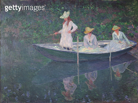 <b>Title</b> : The Boat at Giverny, c.1887 (oil on canvas)<br><b>Medium</b> : oil on canvas<br><b>Location</b> : Musee d'Orsay, Paris, France<br> - gettyimageskorea