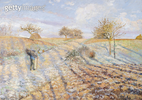 <b>Title</b> : White Frost, 1873 (oil on canvas)<br><b>Medium</b> : oil on canvas<br><b>Location</b> : Musee d'Orsay, Paris, France<br> - gettyimageskorea