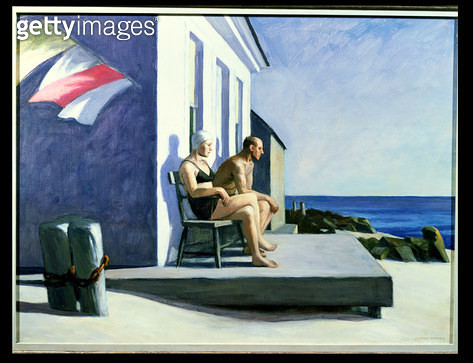 <b>Title</b> : Sea Watchers, 1952 (oil on canvas)<br><b>Medium</b> : oil on canvas<br><b>Location</b> : Private Collection<br> - gettyimageskorea