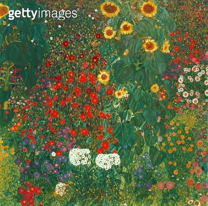 Garden with Sunflowers, 1905-6 (oil on canvas) Garden with Sunflowers, 1905-6 - gettyimageskorea
