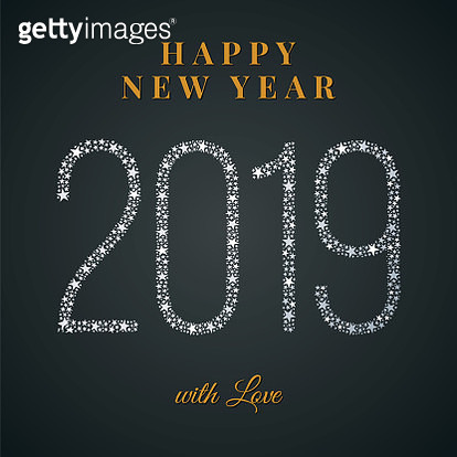 2019 - Happy New Year Greeting card. - gettyimageskorea