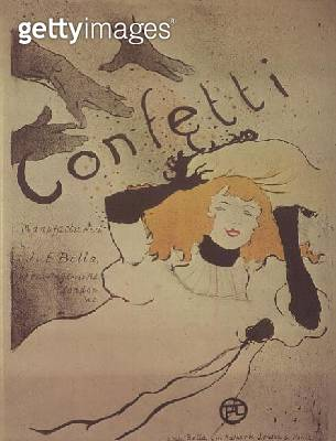 <b>Title</b> : Confetti (litho)<br><b>Medium</b> : lithograph<br><b>Location</b> : Musee Toulouse-Lautrec, Albi, France<br> - gettyimageskorea