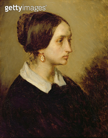 <b>Title</b> : Portrait of Madame Ono, 1844 (oil on canvas)<br><b>Medium</b> : oil on canvas<br><b>Location</b> : Musee d'Art Thomas Henry, Cherbourg, France<br> - gettyimageskorea