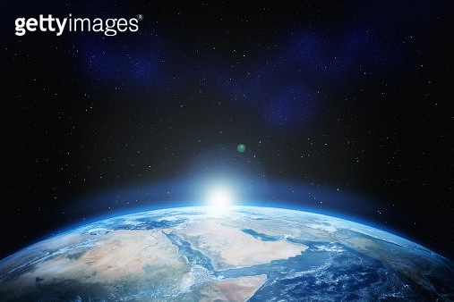 Earth with stars - gettyimageskorea