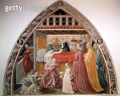 <b>Title</b> : The Birth of the Virgin, from the cycle of the Lives of the Virgin and St. Stephen, from the Cappella dell'Assunta (Chapel of th<br><b>Medium</b> : <br><b>Location</b> : Duomo, Prato, Italy<br> - gettyimageskorea