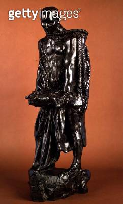 <b>Title</b> : Study for Jean d'Air, from the Burghers of Calais, c.1905-10 (bronze)Additional Infocarrying key to the gate of Calais;<br><b>Medium</b> : bronze<br><b>Location</b> : Private Collection<br> - gettyimageskorea