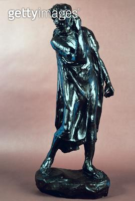 <b>Title</b> : Study for Pierre de Wissant, from the Burghers of Calais, c.1905-10 (bronze)<br><b>Medium</b> : bronze<br><b>Location</b> : Private Collection<br> - gettyimageskorea