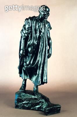 <b>Title</b> : Study for Jacques de Wissant, from the Burghers of Calais, c.1905-10 (bronze)<br><b>Medium</b> : bronze<br><b>Location</b> : Private Collection<br> - gettyimageskorea