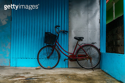Red on blue - gettyimageskorea