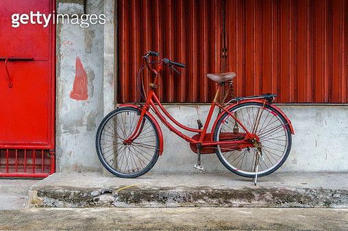 Red bicycle - gettyimageskorea