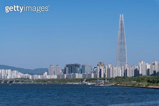 잠실 풍경, 서울시 송파구 잠실동 - gettyimageskorea