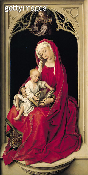<b>Title</b> : Virgin and Child, 1464 (oil on panel)<br><b>Medium</b> : oil on panel<br><b>Location</b> : Prado, Madrid, Spain<br> - gettyimageskorea