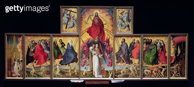 <b>Title</b> : The Last Judgement, c. 1451 (oil on panel) (see 20547-50, 20552 and 21041)Additional InfoSt. Michel Pesant les Ames;<br><b>Medium</b> : <br><b>Location</b> : Hotel Dieu, Beaune, France<br> - gettyimageskorea