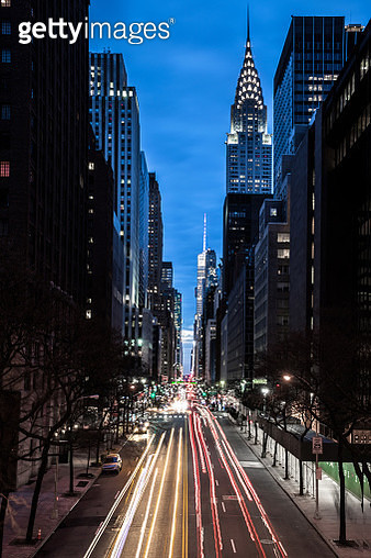 Amazing night view of New York City midtown district - gettyimageskorea
