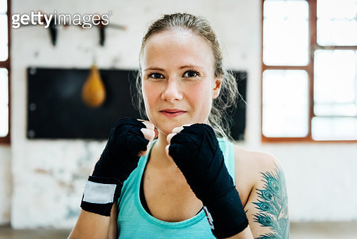 Female Boxer Portrait - gettyimageskorea