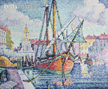 <b>Title</b> : The Port, 1923 (oil on canvas)<br><b>Medium</b> : oil on canvas<br><b>Location</b> : Private Collection<br> - gettyimageskorea
