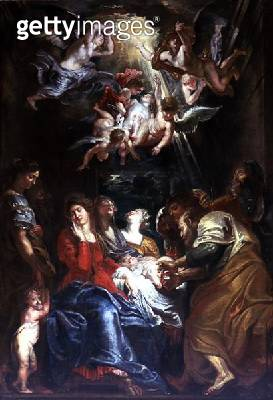 <b>Title</b> : The Circumcision, c.1605 (oil on canvas)<br><b>Medium</b> : oil on canvas<br><b>Location</b> : Akademie der Bildenden Kunste, Vienna, Austria<br> - gettyimageskorea