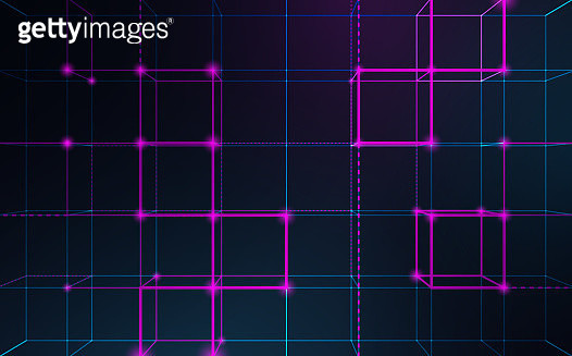 Abstract Blockchain Network Background - gettyimageskorea