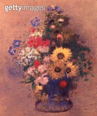 <b>Title</b> : Vase of Flowers, c.1900 (oil on canvas)<br><b>Medium</b> : oil on canvas<br><b>Location</b> : Private Collection<br> - gettyimageskorea