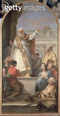 <b>Title</b> : Miracle of St. Patrick, c.1746 (oil on canvas)<br><b>Medium</b> : oil on canvas<br><b>Location</b> : Museo Civico, Padua, Italy<br> - gettyimageskorea