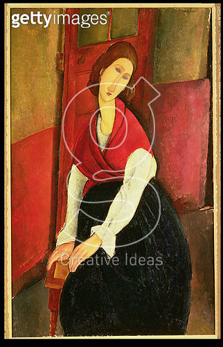 <b>Title</b> : Jeanne Hebuterne, 1919 (oil on canvas)<br><b>Medium</b> : oil on canvas<br><b>Location</b> : Private Collection<br> - gettyimageskorea