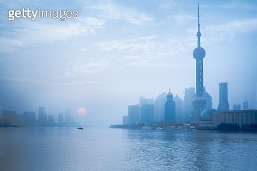 Shanghai foggy morning - gettyimageskorea