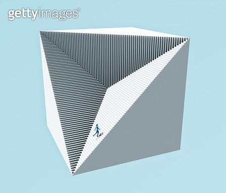 Stairs cube - gettyimageskorea