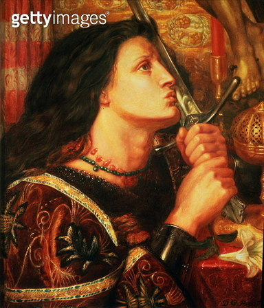 Joan of Arc kissing the Sword of Deliverance, 1863 - gettyimageskorea