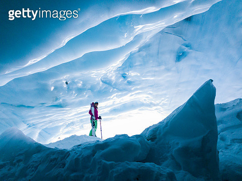 Stunning Glacial Ice Cave - gettyimageskorea