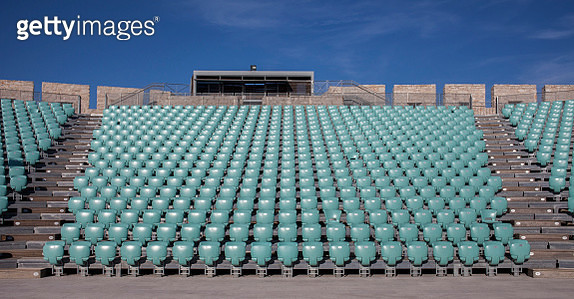 Empty chairs in outdoor amphitheater - gettyimageskorea