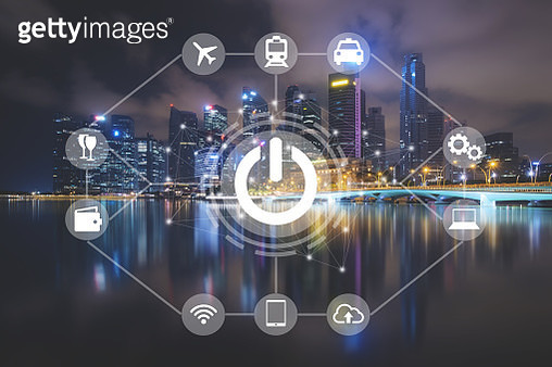 Smart city network, Start up business concept with modern technology and infrastructure - gettyimageskorea