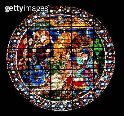 <b>Title</b> : Oculus depicting The Nativity, 1443 (stained glass)Additional InfoCathedral Santa Maria del Fiore;<br><b>Medium</b> : stained glass<br><b>Location</b> : Duomo, Florence, Italy<br> - gettyimageskorea