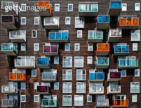 Windows and balconies - gettyimageskorea