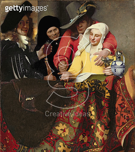 <b>Title</b> : The Procuress, 1656 (oil on canvas)Additional Infothe musician on the left said to be the artist;<br><b>Medium</b> : oil on canvas<br><b>Location</b> : Gemaeldegalerie Alte Meister, Dresden, Germany<br> - gettyimageskorea