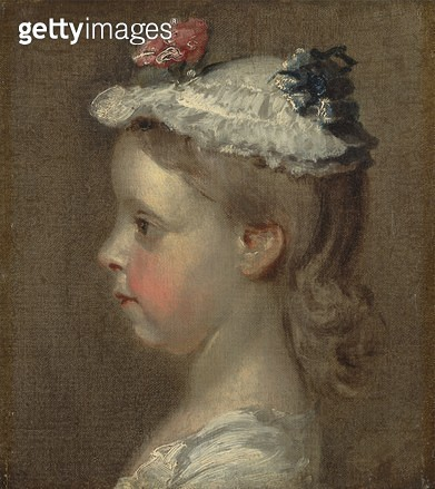 <b>Title</b> : Study of a Girl's Head, c.1740-50 (oil on canvas)<br><b>Medium</b> : oil on canvas<br><b>Location</b> : Yale Center for British Art, Paul Mellon Collection, USA<br> - gettyimageskorea