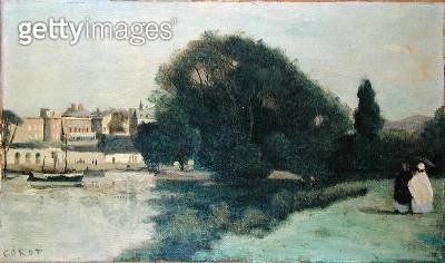 <b>Title</b> : Richmond, near London, 1862 (oil on canvas)<br><b>Medium</b> : oil on canvas<br><b>Location</b> : Private Collection<br> - gettyimageskorea