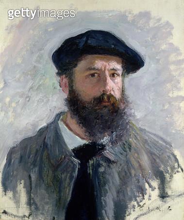 <b>Title</b> : Self Portrait with a Beret, 1886 (oil on canvas)Additional InfoAutoportrait de Claude Monet coiffe d'un beret;<br><b>Medium</b> : oil on canvas<br><b>Location</b> : Private Collection<br> - gettyimageskorea