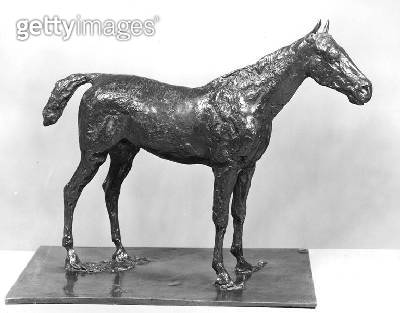<b>Title</b> : Standing Horse (bronze) (b/w photo)<br><b>Medium</b> : bronze<br><b>Location</b> : Private Collection<br> - gettyimageskorea