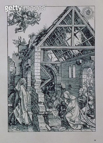 <b>Title</b> : The Adoration of the Shepherds (woodcut)<br><b>Medium</b> : woodcut<br><b>Location</b> : Private Collection<br> - gettyimageskorea
