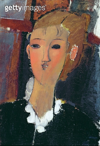 <b>Title</b> : Young Woman in a Small Ruff, 1915 (oil on canvas)Additional InfoJeune Femme a la Collerette;<br><b>Medium</b> : oil on canvas<br><b>Location</b> : Private Collection<br> - gettyimageskorea