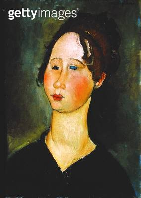 <b>Title</b> : Burgundian Woman, 1918 (oil on canvas)<br><b>Medium</b> : oil on canvas<br><b>Location</b> : Private Collection<br> - gettyimageskorea