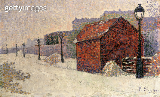 <b>Title</b> : Snow, Butte Montmartre, 1887 (oil on canvas)<br><b>Medium</b> : oil on canvas<br><b>Location</b> : Private Collection<br> - gettyimageskorea