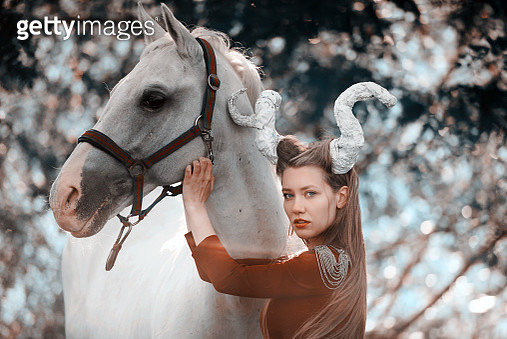 fantasy devil woman in nature - gettyimageskorea