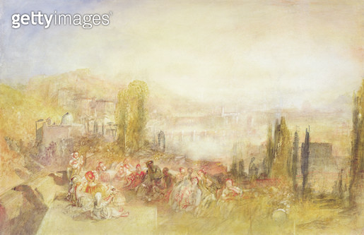 <b>Title</b> : Florence, 1851 (w/c on paper)<br><b>Medium</b> : watercolour on paper<br><b>Location</b> : Private Collection<br> - gettyimageskorea