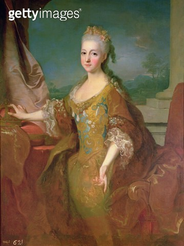 <b>Title</b> : Portrait of Louise-Elisabeth d'Orleans (1709-42) (oil on canvas)Additional Infowife of Louis I de Bourbon;<br><b>Medium</b> : oil on canvas<br><b>Location</b> : Prado, Madrid, Spain<br> - gettyimageskorea
