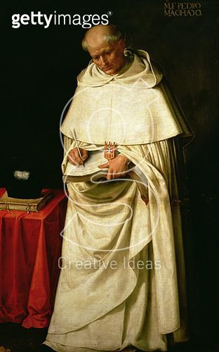 <b>Title</b> : Brother Pedro Machado (d.1604) (oil on canvas)<br><b>Medium</b> : oil on canvas<br><b>Location</b> : Real Academia de Bellas Artes de San Fernando, Madrid, Spain<br> - gettyimageskorea