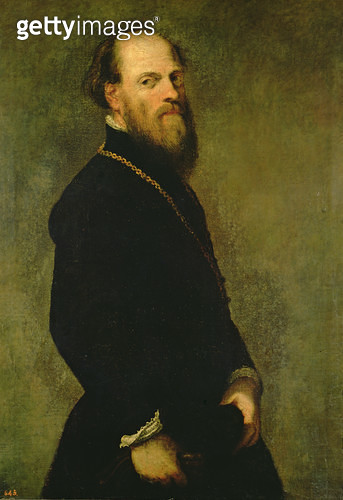 <b>Title</b> : The Man with the Gold Chain, c.1550 (oil on canvas)Additional InfoLe Chevalier a la Chaine en Or; possibly a portrait of Verones<br><b>Medium</b> : oil on canvas<br><b>Location</b> : Prado, Madrid, Spain<br> - gettyimageskorea