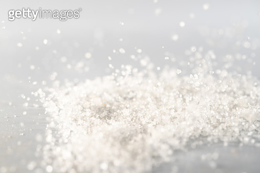 """sugar small crystal dancing in mid air captured with highspeed camera""""n - gettyimageskorea"""