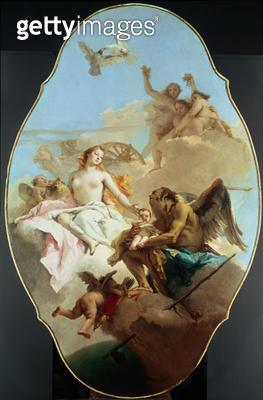 <b>Title</b> : Venus, ceiling painting (oil on panel)<br><b>Medium</b> : <br><b>Location</b> : National Gallery, London, UK<br> - gettyimageskorea